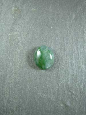 8x10mm Green Moss Agate Oval Cabochon