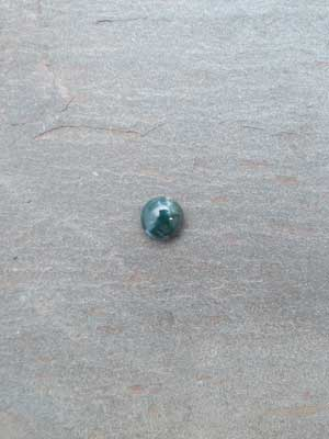 8mm Green Moss Agate Round Cabochon