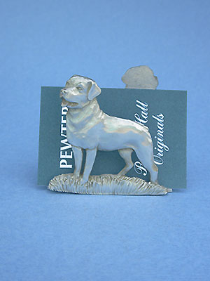 Rotweiller Business Card Holder - Lead Free Pewter