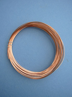 22ga. Copper Wire (Square, Half Hard)