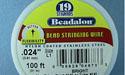 "19 Strand .024"" Bright Beadalon Wire - 100 ft."