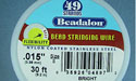 "49 Strand .015"" Bright Beadalon Wire - 30 ft."