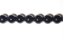 "4mm Round Black Agate -16"" Strand"