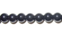 "6mm Round Black Agate - 16"" Strand"