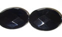 "18x25mm Facet Black Agate - 16"" Strand"
