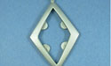 Large Diamond Pendant - Lead Free Pewter