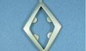Large Diamond Pendant - Lead Free Pewter
