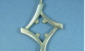Overlapped Diamond Pendant - Lead Free Pewter
