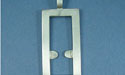 Rectangular Pendant - Lead Free Pewter