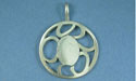 Small Plain Scroll Pendant - Lead Free Pewter