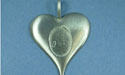 Solid Heart Pewter Setting - Lead Free Pewter
