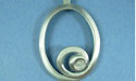 Oval with Curl Pewter Setting - Lead Free Pewter