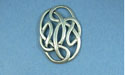 Scroll Cabochon Cover - Lead Free Pewter