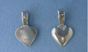 Solid Heart Beavertail - Pk of 3 - Lead Free Pewter