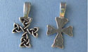 Cross of Clarity Beavertail - Pk of 3 - Lead Free Pewter