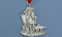 Horse Hunt with Dogs Christmas Ornament - Lead Free Pewter