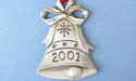 2001 Bell Annual Ornament - Lead Free Pewter