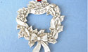 2007 Wreath Annual Ornament - Lead Free Pewter