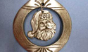 2018 Vintage Ornament with Santa Face - Lead Free Pewter