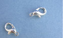 Small Silver Plated Lobster Claw Clasps