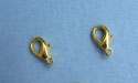 Small Gold Plated Lobster Claw Clasps