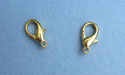 Medium Gold Plated Lobster Claw Clasps