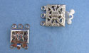 Three Hole Clasps - Nickle Plated - 5 sets