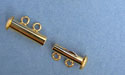 Two Strand Tube Clasp Gold Plated - 3sets
