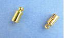 2.7 Heavy Cord Ends - Gold Plated - 10pcs