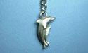 Double Dolphin Keychain - Lead Free Pewter