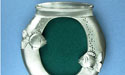 2x3 Oval Fish Bowl Picture Frame - Lead Free Pewter