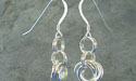 Rosette Chain Maille Earrings - Argentium Sterling Silver
