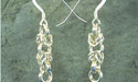 Byzantine Chain Maille Earrings - Argentium Sterling Silver