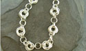 Rosette Chain Maille Bracelet - Argentium Sterling Silver