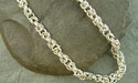 Byzantine Chain Maille Necklace - Argentium Sterling Silver
