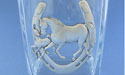 Horses /Horse Shoe Ice Bucket - Lead Free Pewter