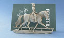 Classic Dressage Business Card Holder - Lead Free Pewter