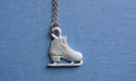 "Figure Skate Lead Free Pewter Small Pendant c/w 18"" Chain"