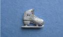 Single Skate Rhinestone Lapel Pin - Lead Free Pewter