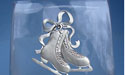 Double Skate with Laces Vase - Lead Free Pewter