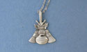 "Curling Rock, Thistle, Broom Lead Free Pewter Pendant c/w 18"" Chain"