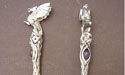 Dragon Crystal Wand - Lead Free Pewter