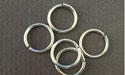 8.5mm (ID) 18ga- Argentium Sterling Silver Jump Rings