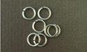 6.0mm (ID) 18ga - Argentium Sterling Silver Jump Rings