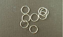 6mm - 20ga Twisted Argentium Sterling Silver Jump Rings