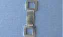 Open Squares Bar Foldover - Lead Free Pewter