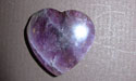 Amethyst Gemstone Heart
