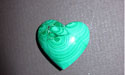 Malachite Gemstone Heart