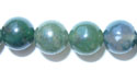 """8mm Round Green Moss Agate - 16"""" Strand"""