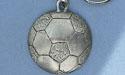 Soccerball Keychain - Lead Free Pewter